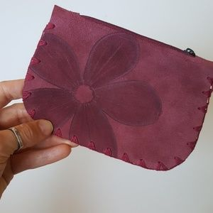 Leather, Maroon, Small Wallet/Coin Purse.